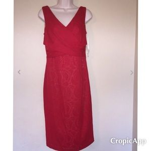 NWT Maggie London Red Sexy Pencil Dress Size 6